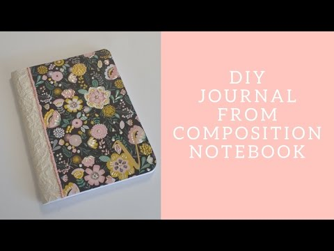 DIY Composition  Notebook Journal