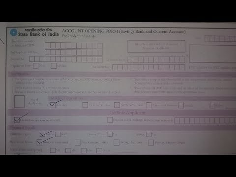 How we fill SBI account opening form in hindi ?