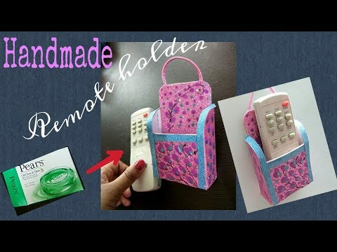 Handmade Remote holder from soap packet