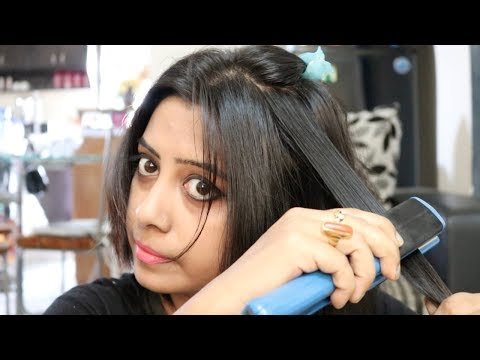 How to Straighten Your Hair with a Hair Straightener || using flat iron