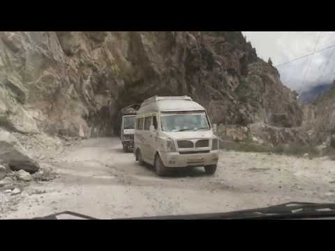 Dangerous Roads in HIMALAYAS - HANGING CLIFF ROAD in SPITI VALLEY