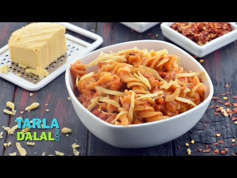 पास्ता इन रेड सॉस (Pasta In Red Sauce) by Tarla Dalal