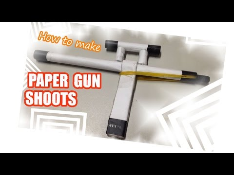 How to make a Paper Gun shoots ✔