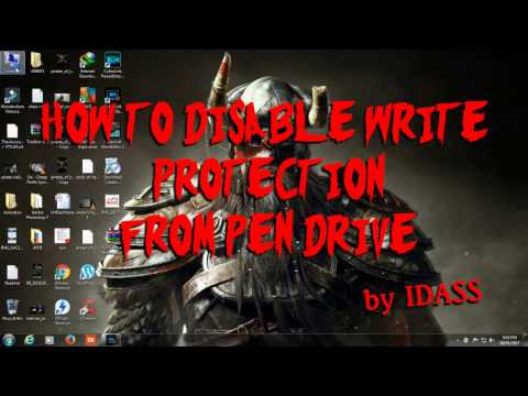 How to Remove write protection from USB Flash drive using registry