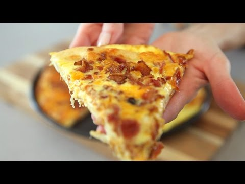 Bacon Egg and Cheese Breakfast Pizza