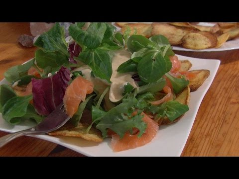 Salmon Salad German everyday cooking Video Recipe littleGast
