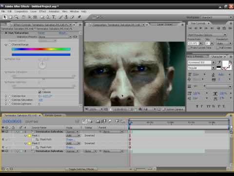 After Effects Tutorial:Eye Color Change 2