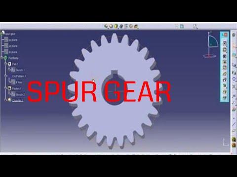 Catia V5 - Spur Gear (Designed using formula)