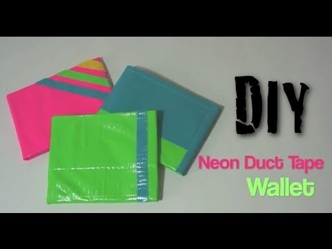 Neon Duct Tape Wallet DIY Tutorial