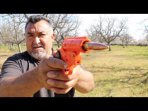Flare gun with rubber band ?  Don't waste ur time watching this