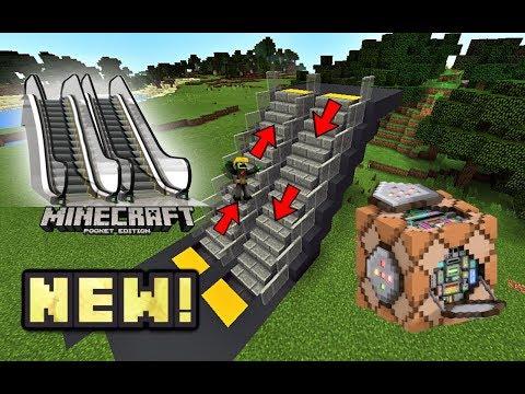 MCPE Working ESCALATOR! Command block Trick Tutorial! Minecraft PE