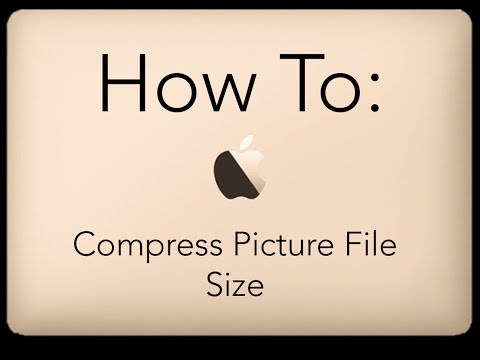 How To Compress Picture File Size on MacBook