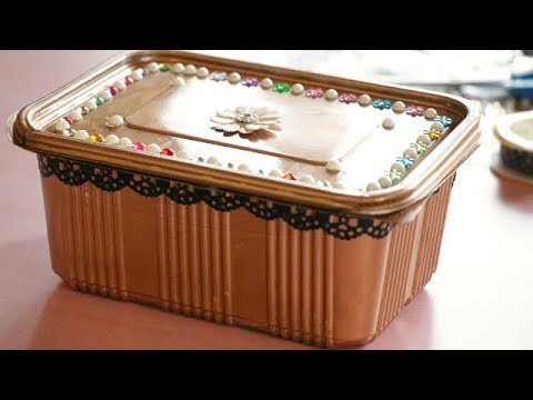 Best Out Of Waste Jewellery Box|Gift Box|Makeup Box From Cardboard|Plastic Box|Recycling Craft Idea