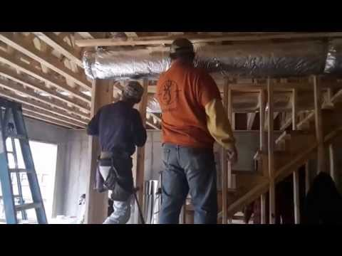 Build a frame around duct work.
