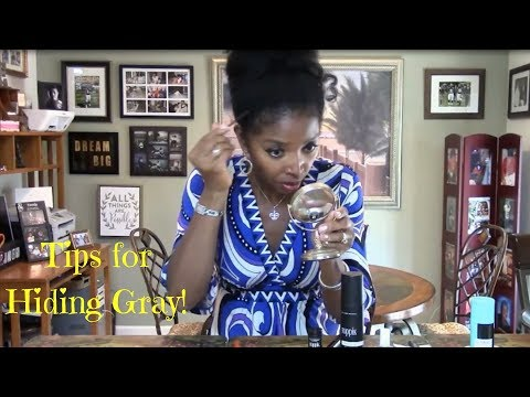 How to Cover or Hide Gray Hair & Edges After Shampooing
