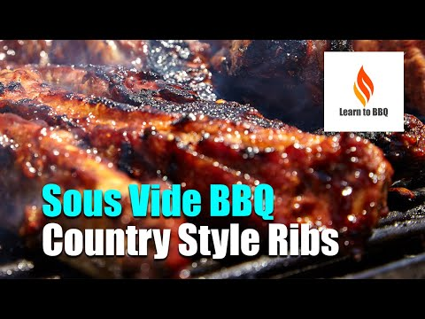Sous Vide BBQ Country Style Ribs - Keto - LCHF - Learn to BBQ