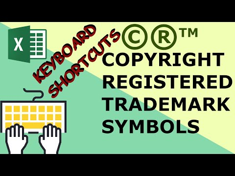 Insert copyright, trademark and registered symbols in excel - Excel keyboard shortcuts