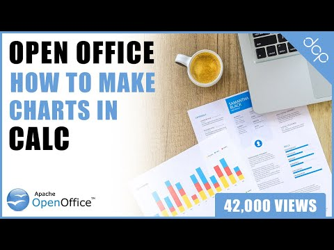 How to make a chart using Open Office 4 Calc Spreadsheet - DCP Web Designers Tutorial
