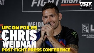 UFC on FOX 25: Chris Weidman Post-Fight Press Conference - MMA Fighting