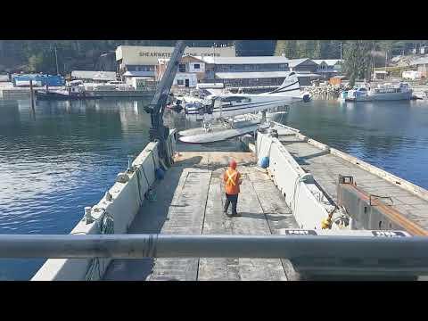 Broken down Dehavilland Beaver crane lift
