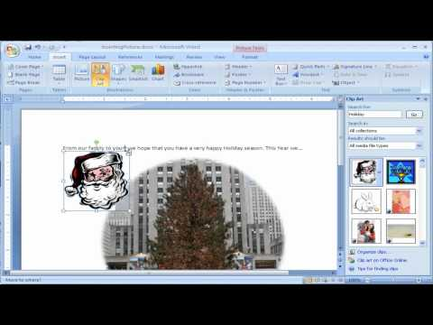 How to Insert clipart into Microsoft Word 2007