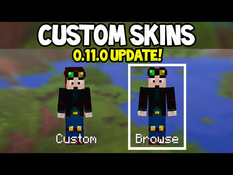 Minecraft Pocket Editon - 0.11.0 Update! - How To Change Skins - EASY TUTORIAL!
