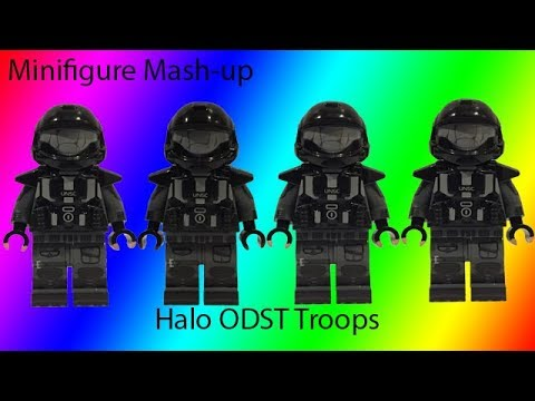 Custom Lego Minifigure Mash-up: Halo ODST Troops