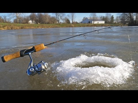 Ice Fishing a SMALL POND!?