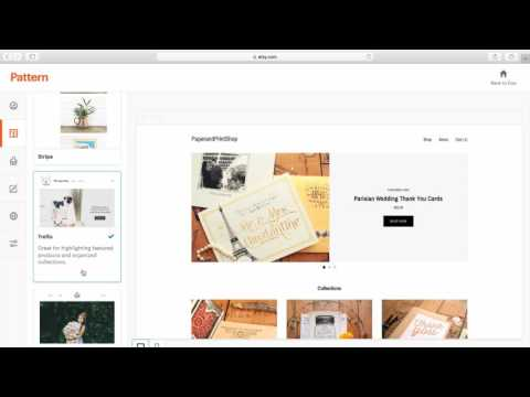 How to Create a Website with Pattern By Etsy