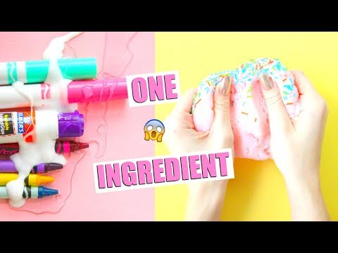 DIY SCHOOL SUPPLY SLIMES + SLIME HACKS! ONE INGREDIENT slimes and SCHOOL GLUE TESTING!💕