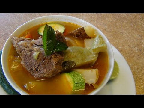Mexican beef and vegetables soup.