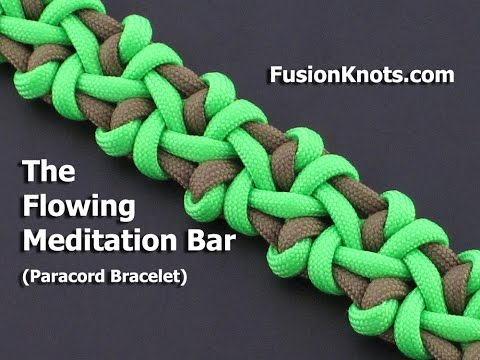 How to Make the Flowing Meditation Bar (Paracord) Bracelet by TIAT