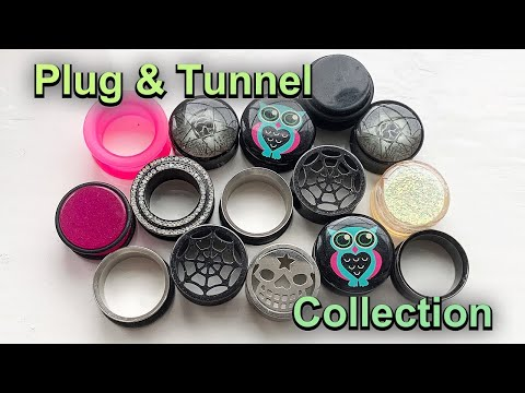 My Ear Plug And Tunnel Collection - 20mm Ears :)