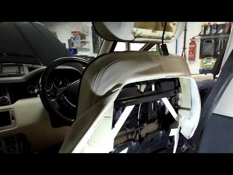 How to strip down Range Rover L322 Front Seats