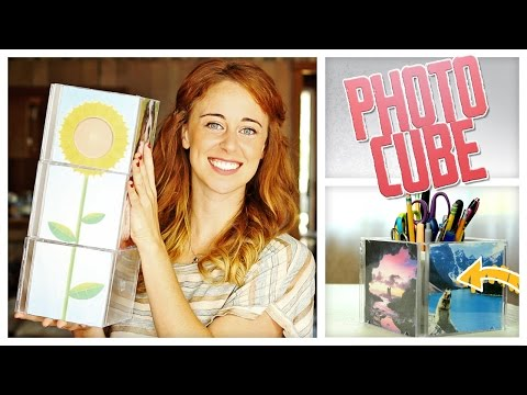 DIY Photo Cube from CD Cases! - Do It, Gurl