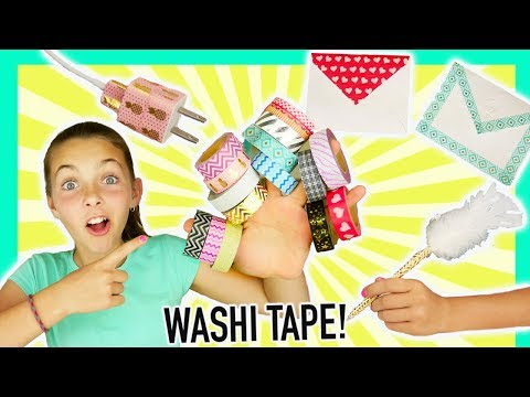 Five Best Washi Tape Crafts | Easy Kids Crafts With Ava