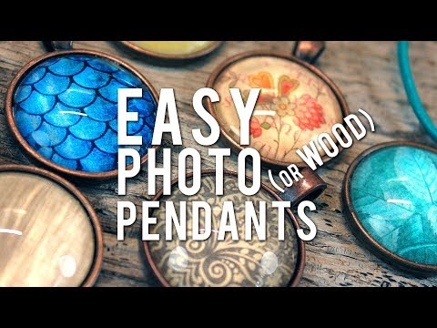 Make Glass Photo Pendants - EASY How-To Cabochon Necklace