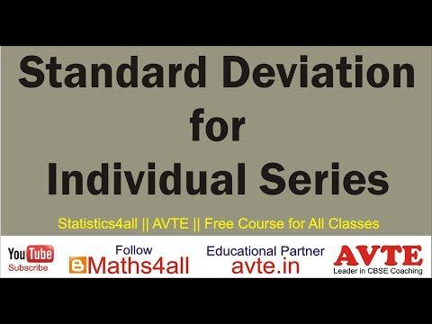 STANDARD DEVIATION || Individual Series || Statistics4all || Actual Mean and Assumed Mean Method ||
