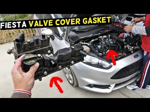 FORD FIESTA ST VALVE COVER GASKET REPLACEMENT REMOVAL MK7 ST