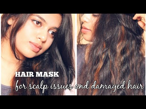 DIY HAIR MASK FOR DANDRUFF, LICE, DRY AND ITCHY SCALP AND DAMAGED HAIR | bl&f