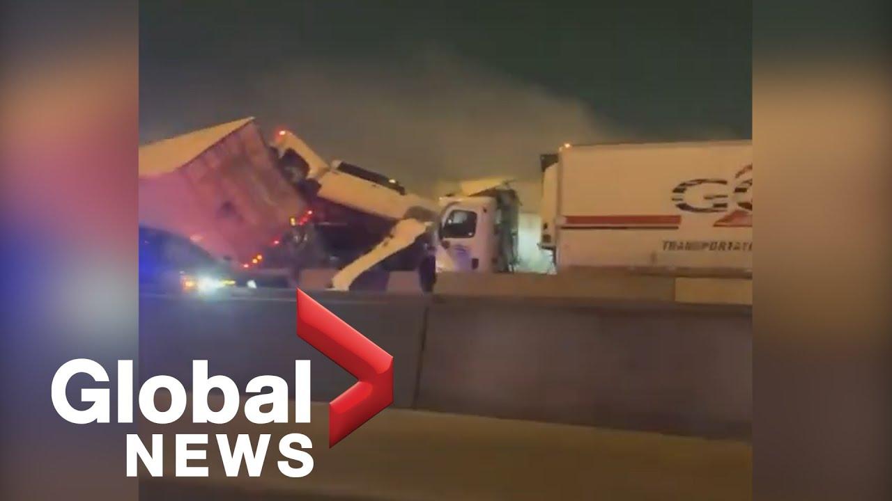 Video captures catastrophic Texas highway pileup