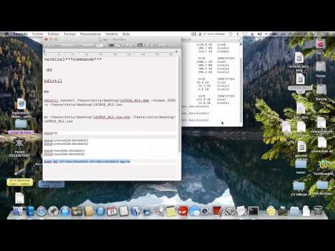 Commande terminal OS X (la commande dd)