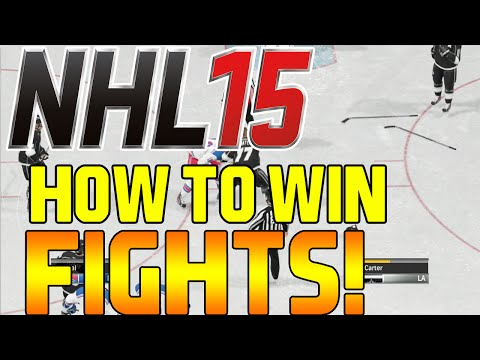 NHL 15 How to Win EVERY Fight (HOW TO JERSEY SOMEONE)