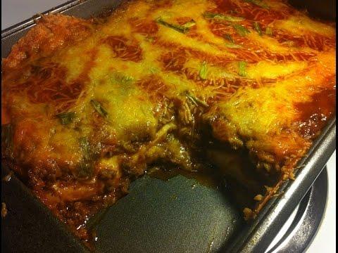 IN keke's kitchen #45 Two-Layer Beef  Enchilada Casserole