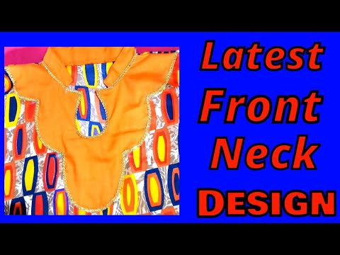 Latest front Neck  Design cutting and stitching