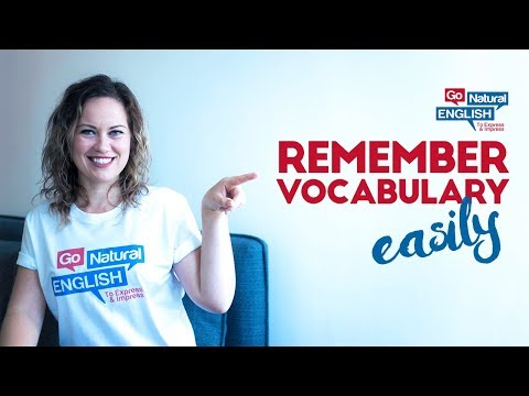 Remember Vocabulary Easily with this Simple Formula! Go Natural English Lesson