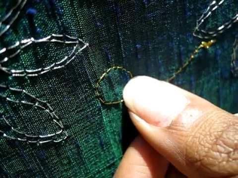 Hand embroidery - zardozi stitch tutorial