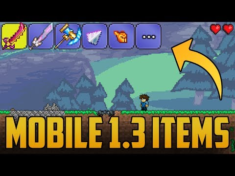 1.3 Items in Android Terraria | Retexture/Material Pack Review (Launcher for Terraria) Working 2017