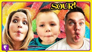 Giant SOUR SURPRISE Egg Challenge! Compilation Shows by HobbyKidsTV
