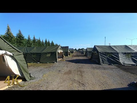 Quebec: Newly built camp at Canada / USA border awaits 100's of migrants 8-13-2017